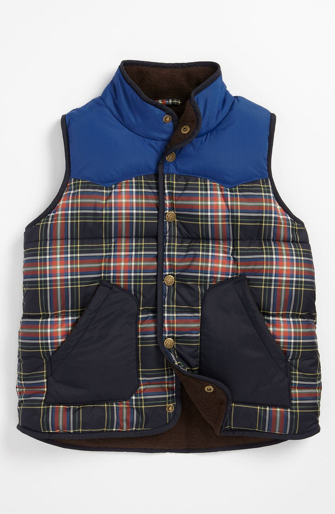 Main Image - Mini Boden Colorblock Vest (Little Boys & Big Boys)