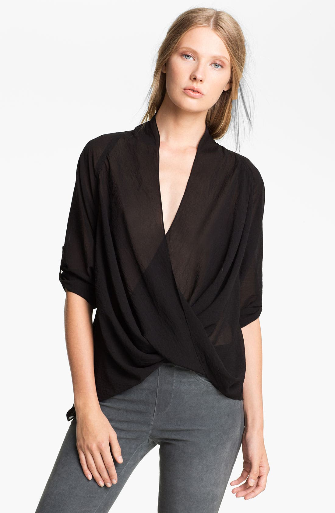 Alternate Image 1 Selected - Helmut Lang 'Lyra' Twist Front Blouse