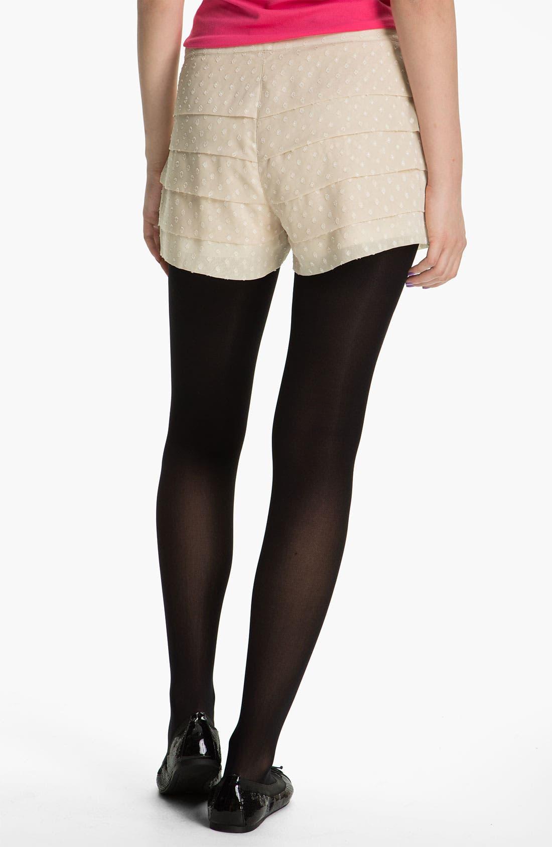 Alternate Image 2  - Mimi Chica Tiered Shorts (Juniors)
