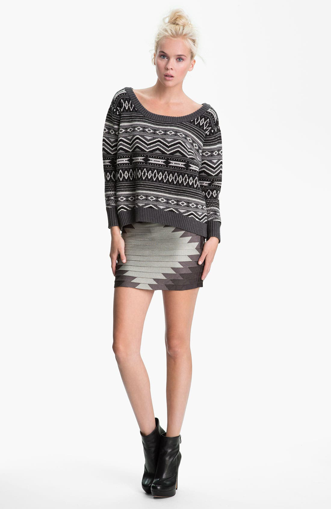 Alternate Image 4  - Haute Hippie Southwestern Merino Wool Sweater