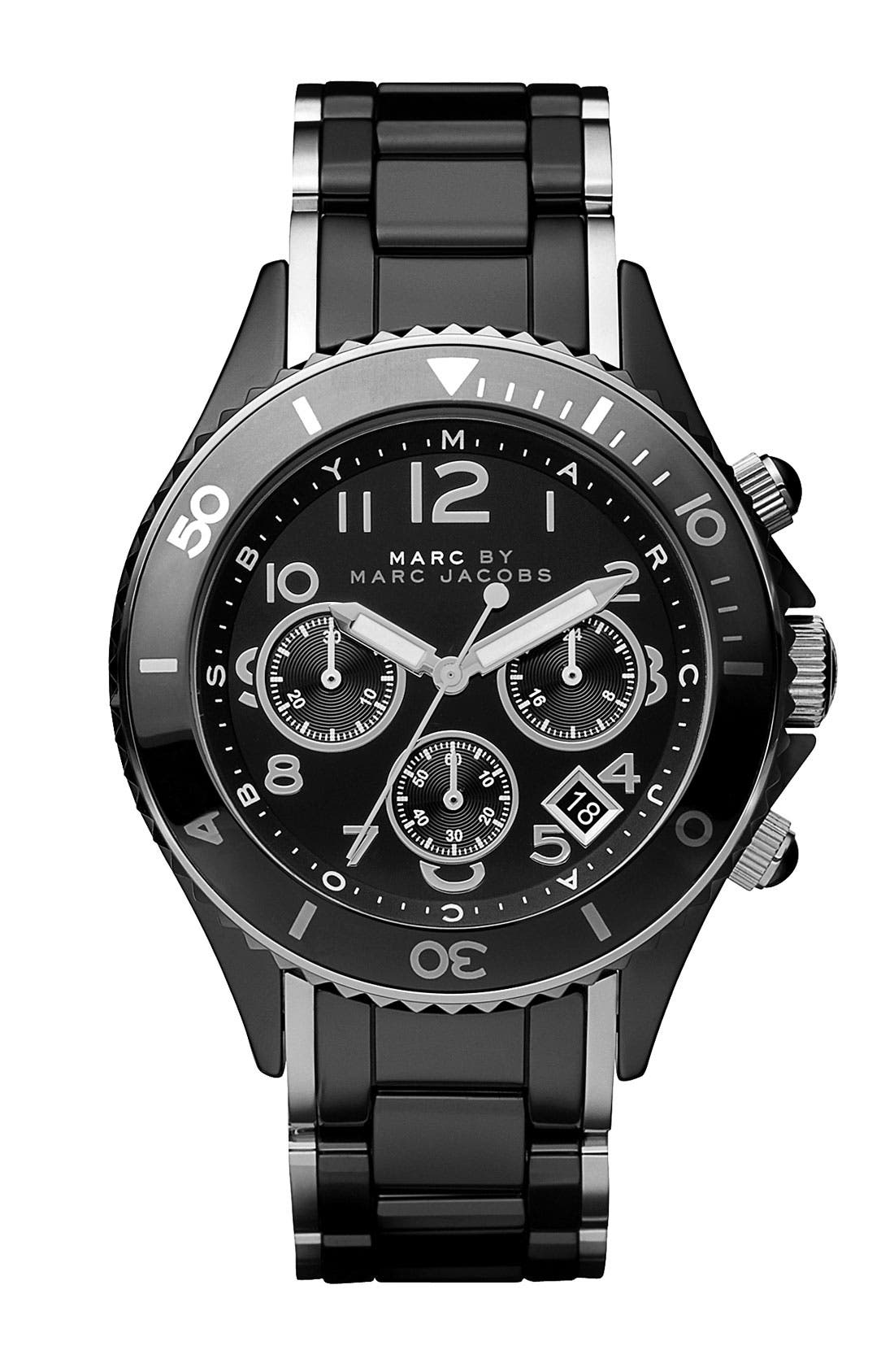 Main Image - MARC BY MARC JACOBS 'Rock' Ceramic Chronograph Watch
