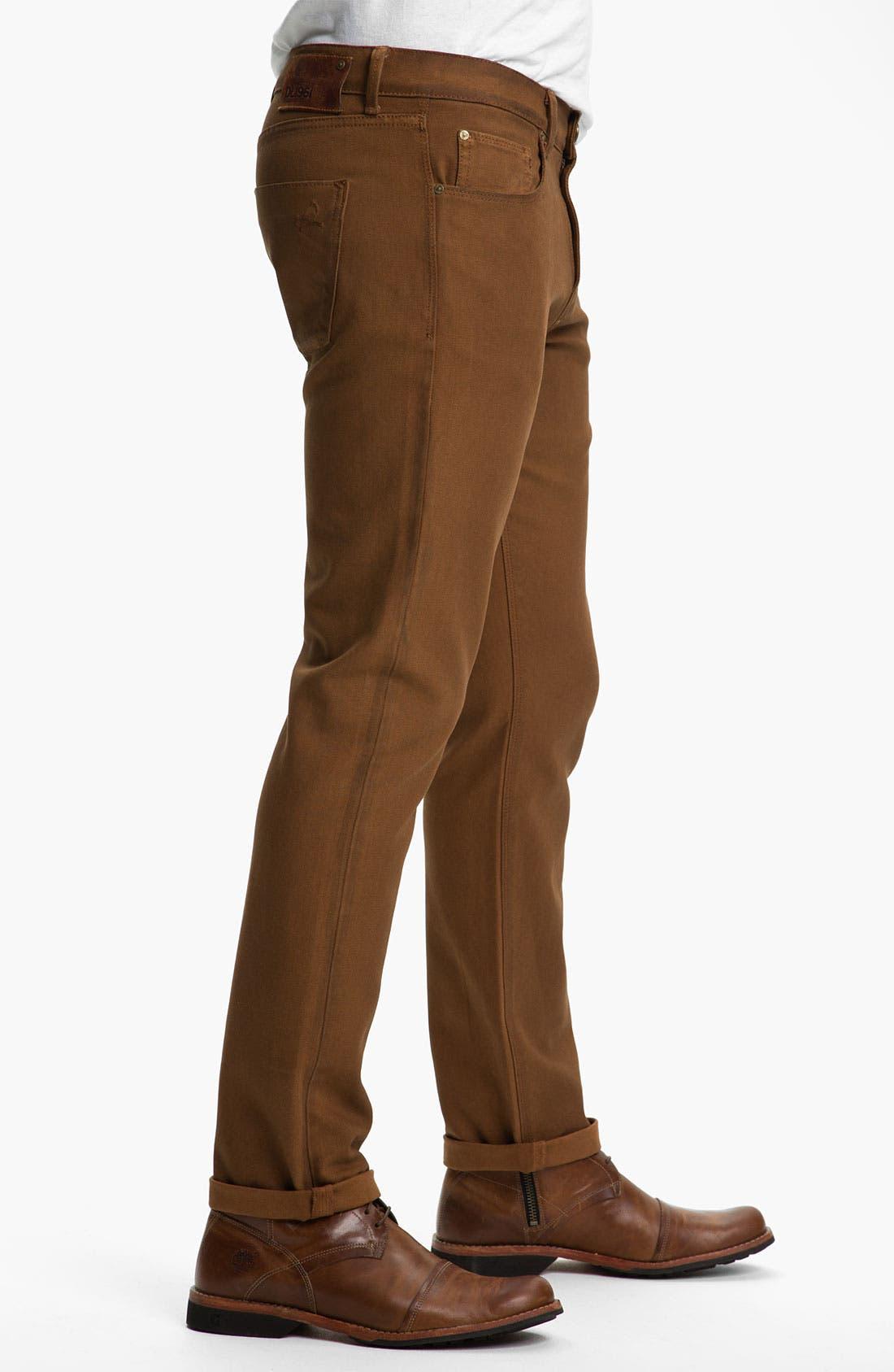 Alternate Image 3  - DL1961 'Russell' Slim Straight Leg Jeans (Desert) (Online Only)