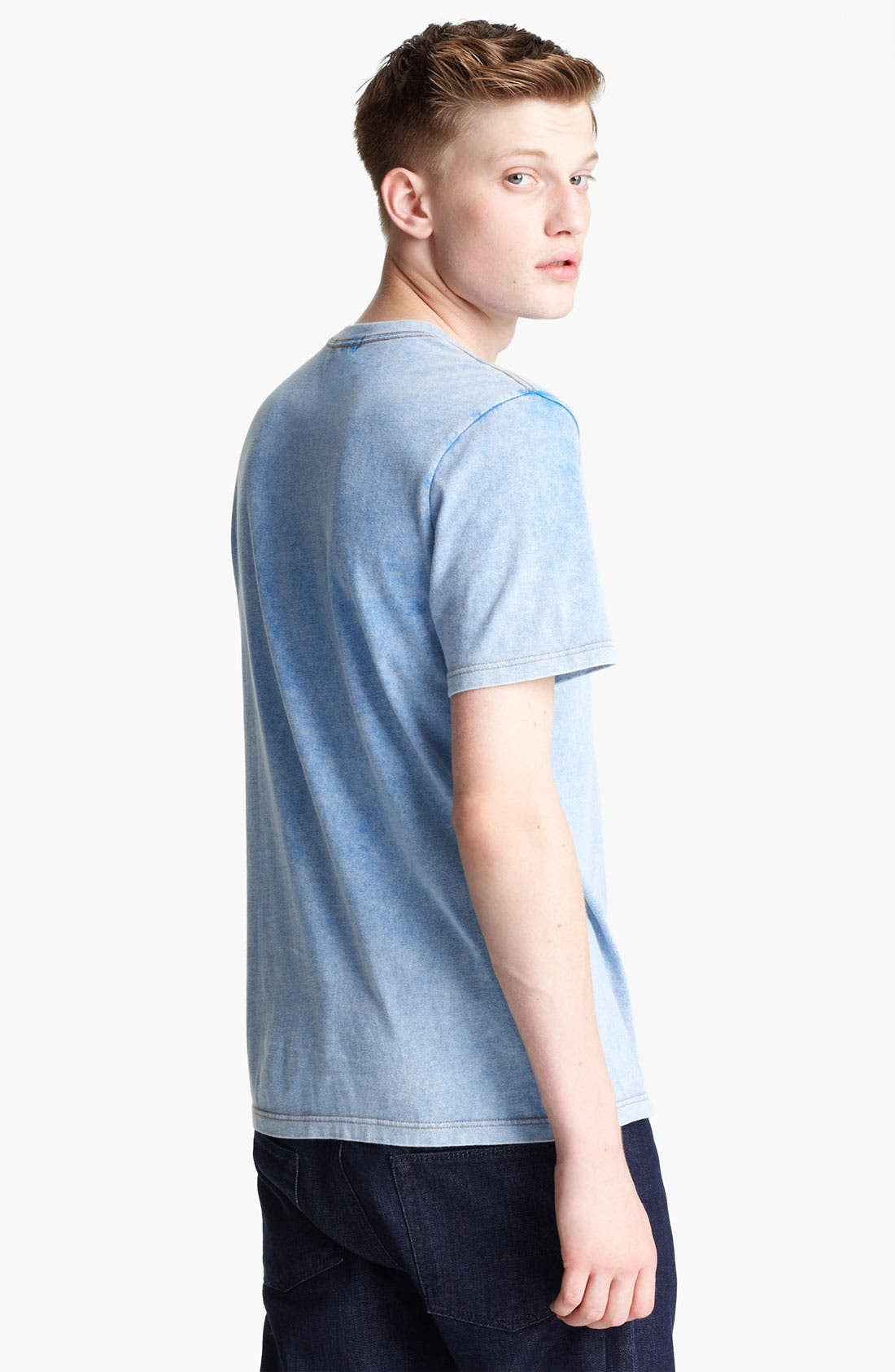 Alternate Image 2  - Topman Washed Cotton T-Shirt