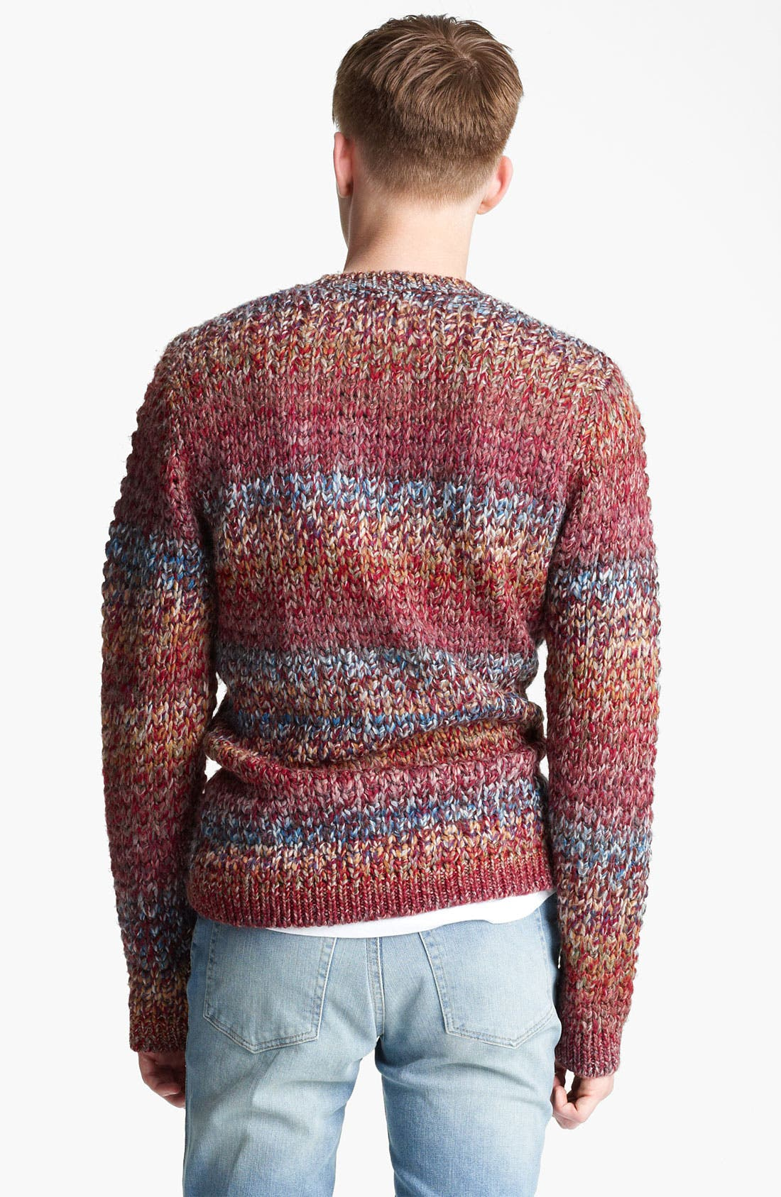 Alternate Image 2  - Topman Ombré Knit Crewneck Sweater