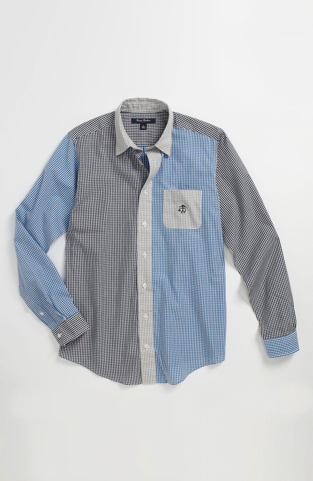 Alternate Image 1 Selected - Brooks Brothers Gingham Sport Shirt (Big Boys)