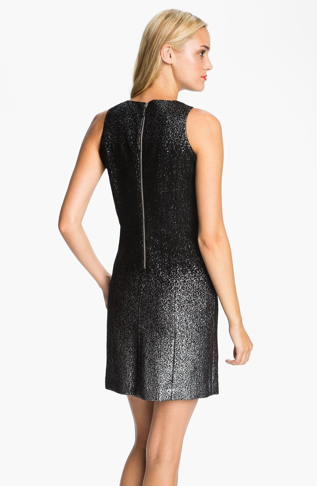 Alternate Image 2  - MICHAEL Michael Kors Crewneck Metallic Dress