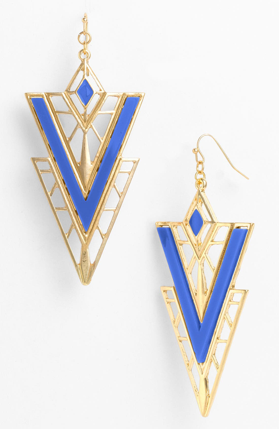 Main Image - Guinevere Triangle Earrings