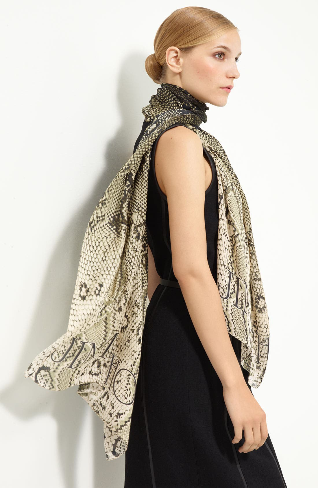 Alternate Image 1 Selected - Jimmy Choo Reptile Print Wool & Silk Scarf