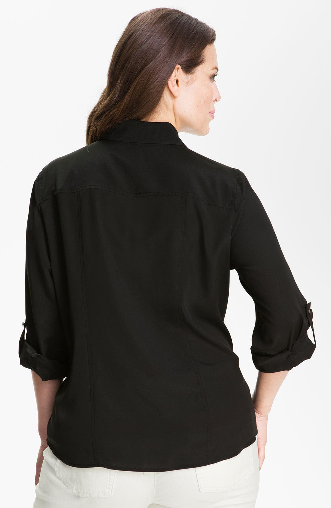Alternate Image 2  - MICHAEL Michael Kors Zip Campshirt (Plus Size)