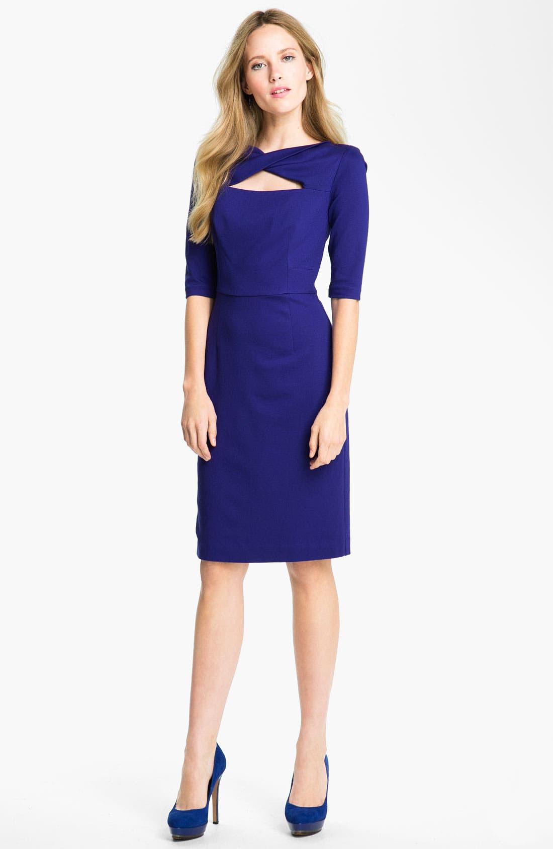 Alternate Image 1 Selected - Trina Turk 'Romanov' Ponte Sheath Dress