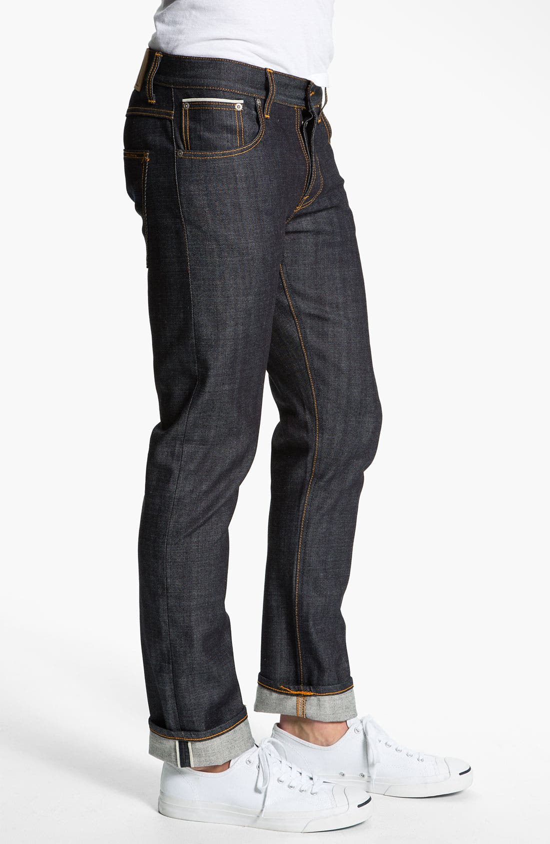 Alternate Image 3  - Nudie 'Grim Tim' Skinny Straight Leg Jeans (Open Dry Selvage)