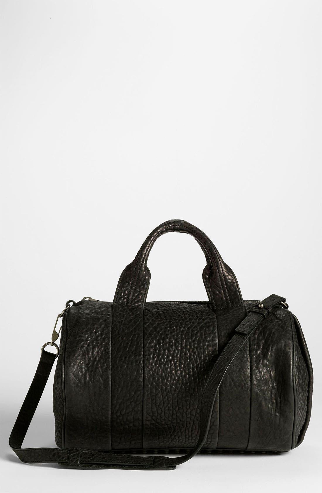 Main Image - Alexander Wang 'Rocco - Black Nickel' Leather Satchel