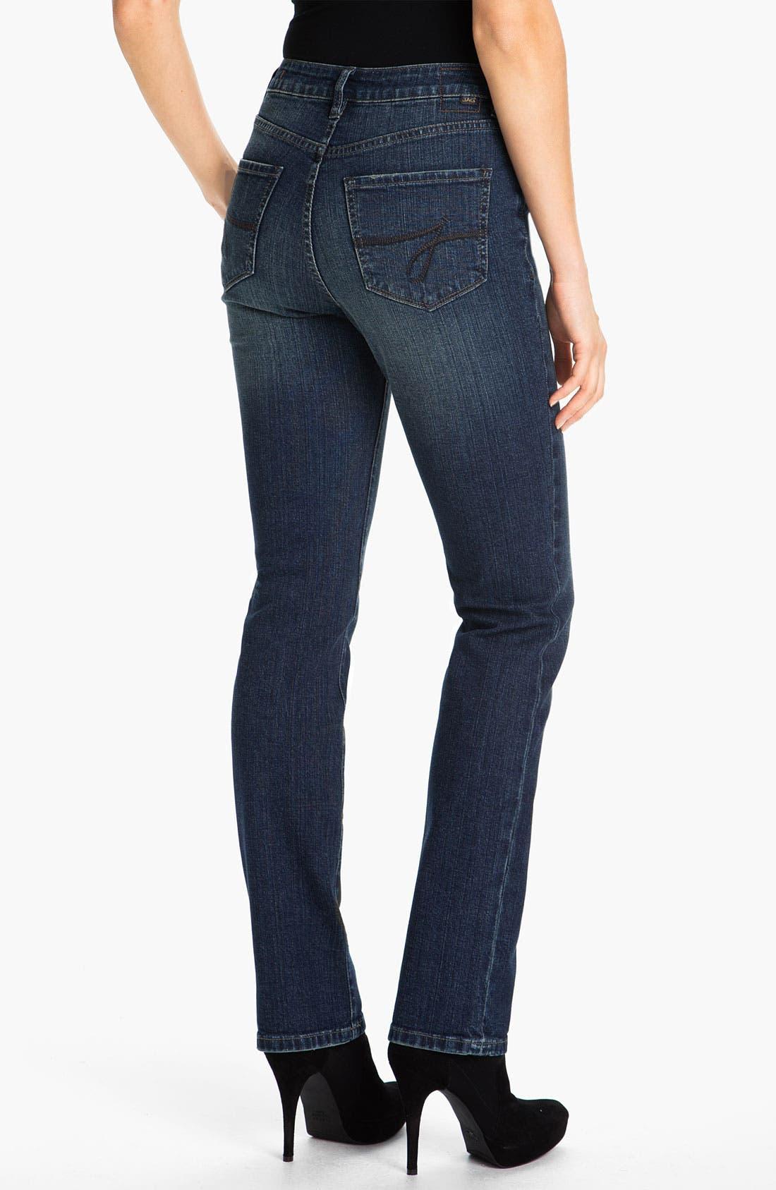 Alternate Image 2  - Jag Jeans 'Sydney' Straight Leg Jeans (Billie Blue) (Petite)