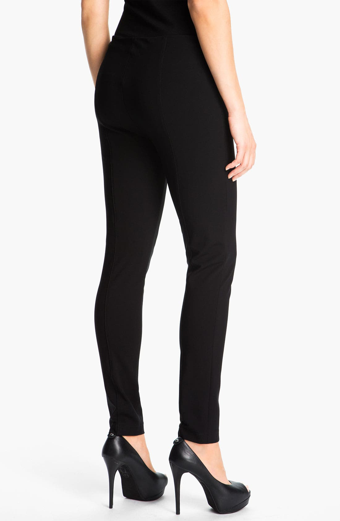 Alternate Image 2  - Lafayette 148 New York Matte Jersey Slim Pants
