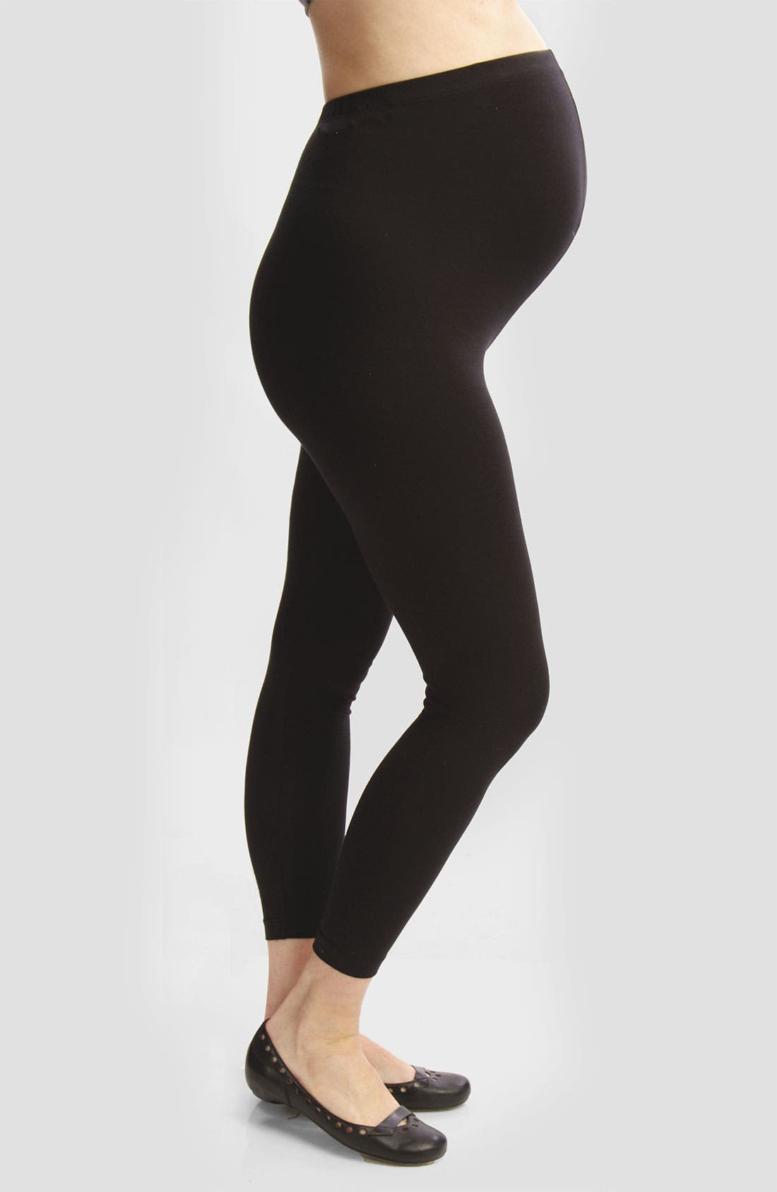 Alternate Image 1 Selected - Japanese Weekend Over the Belly Maternity Leggings