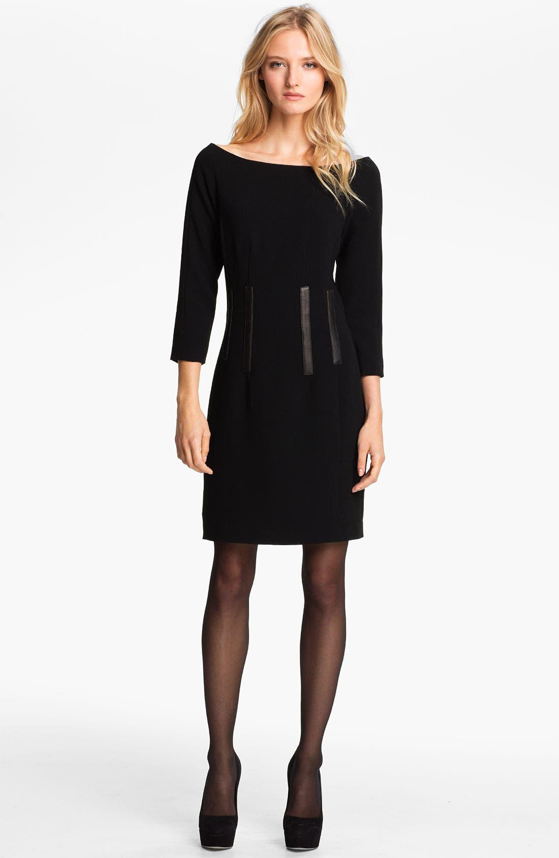 Main Image - rag & bone 'Imogen' Leather Trim Dress