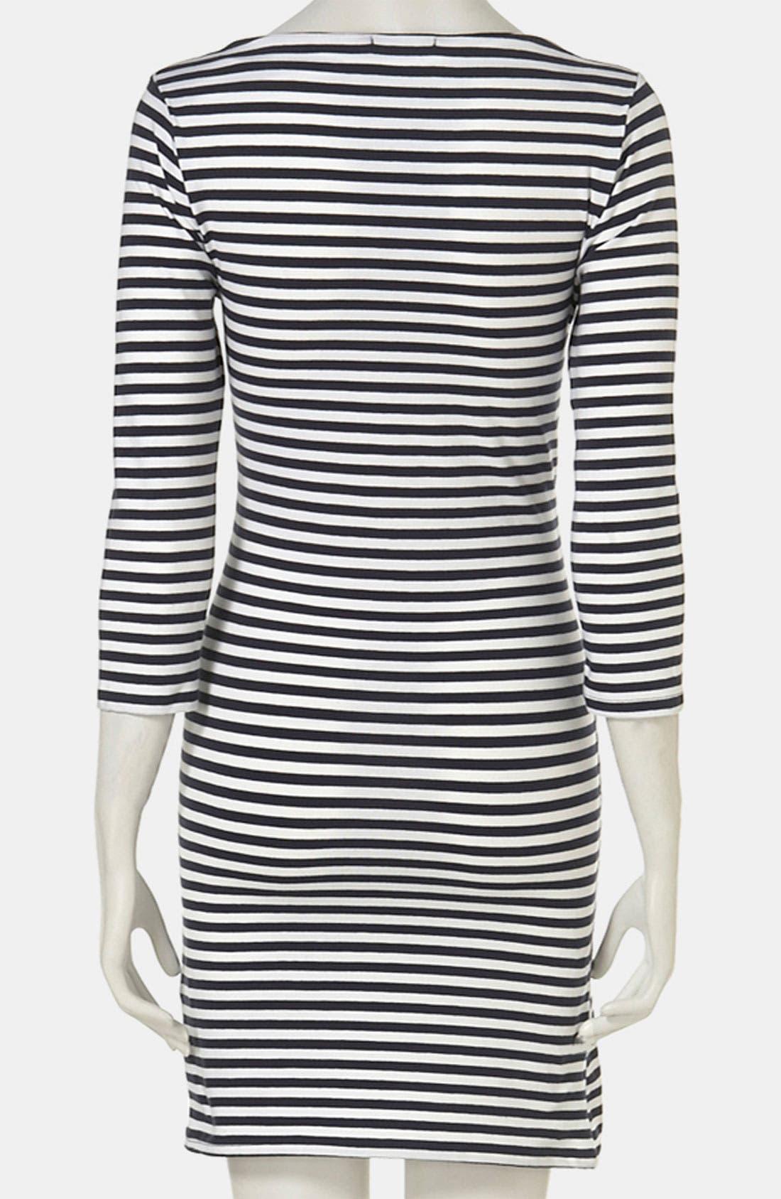 Alternate Image 2  - Topshop Stripe Maternity Dress