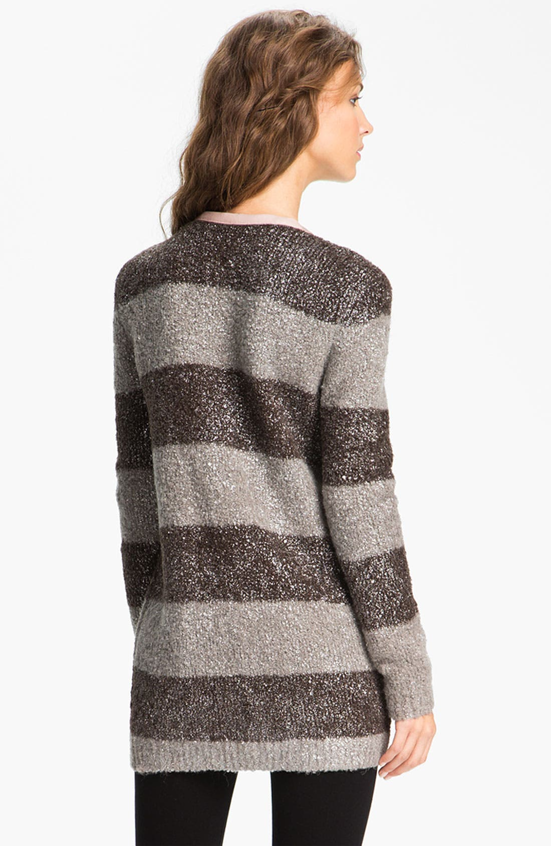 Alternate Image 2  - Hinge® Metallic Bouclé Cardigan