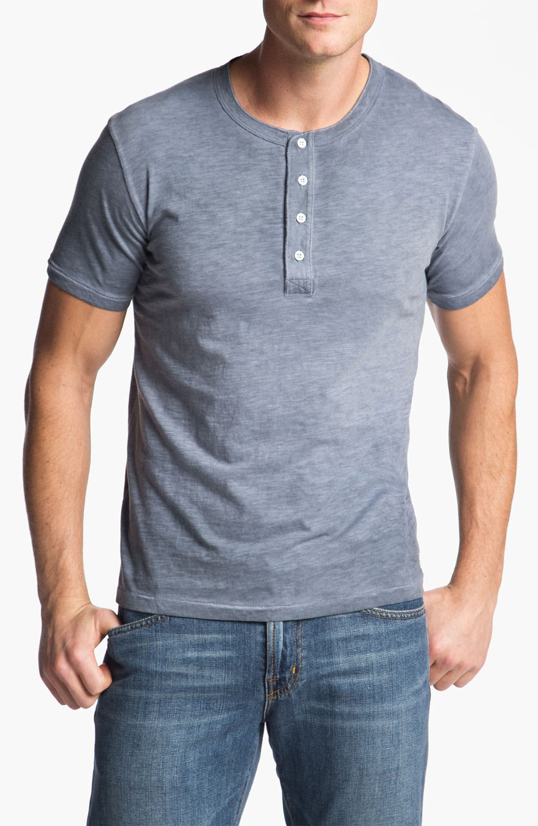 Alternate Image 1 Selected - AG Jeans Short Sleeve Henley