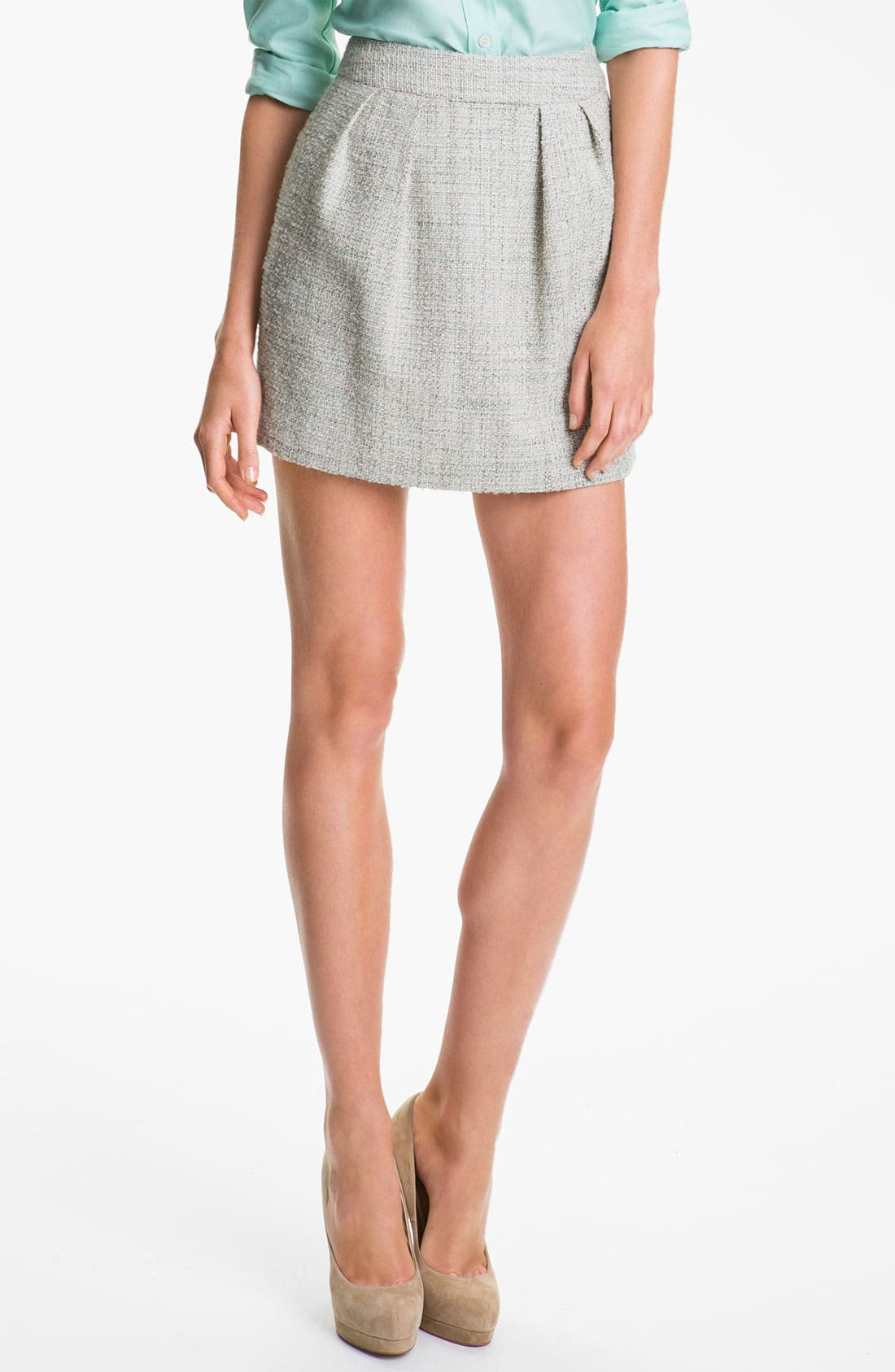Alternate Image 1 Selected - Theory 'Chablis' Tweed Miniskirt (Online Exclusive)