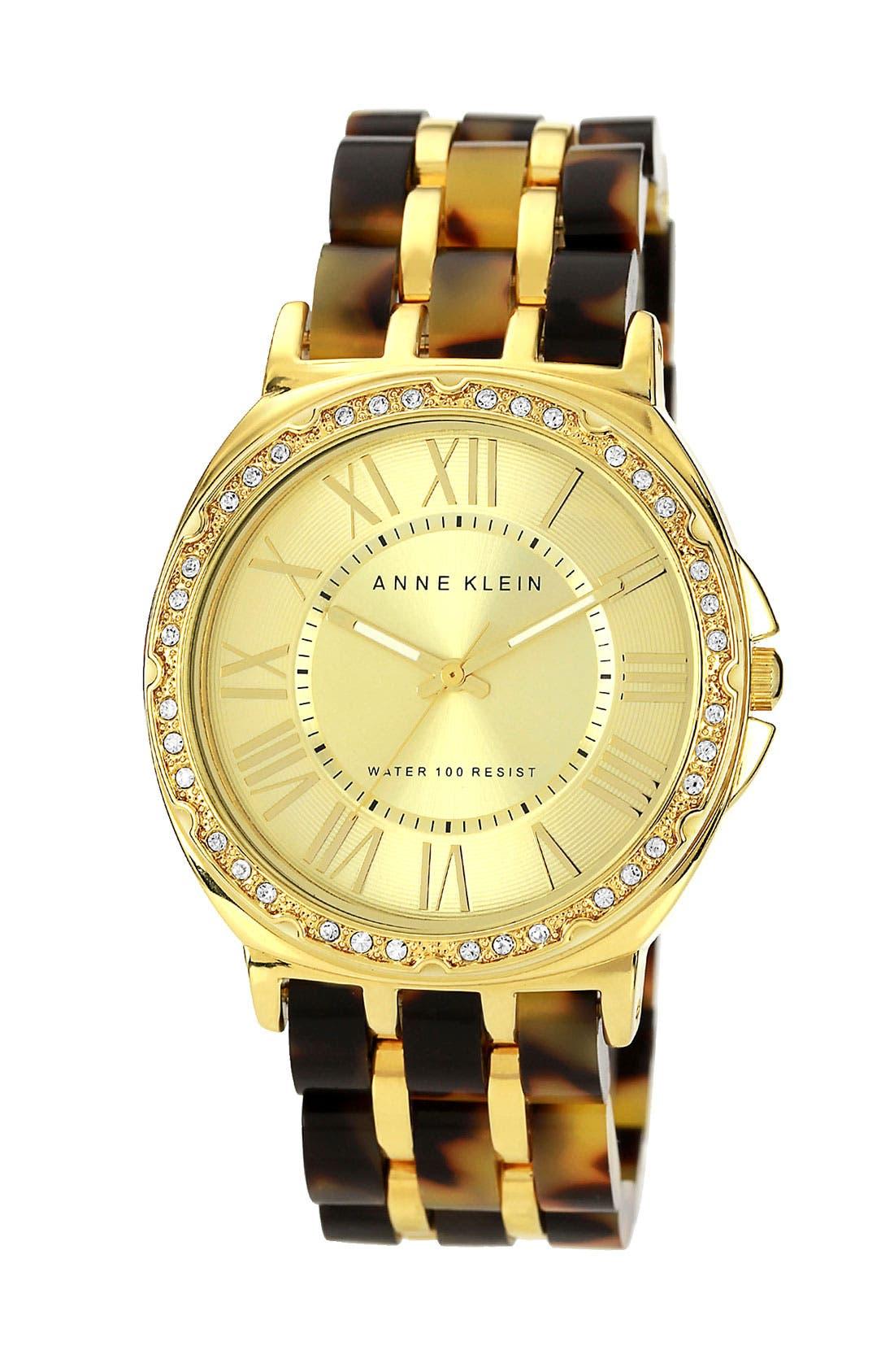 Alternate Image 1 Selected - Anne Klein Crystal Dial Bracelet Watch