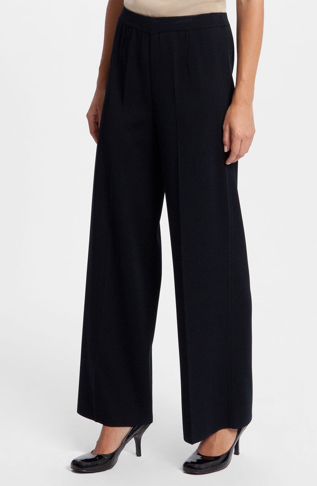 Wide Leg Pants,                             Main thumbnail 1, color,                             Black