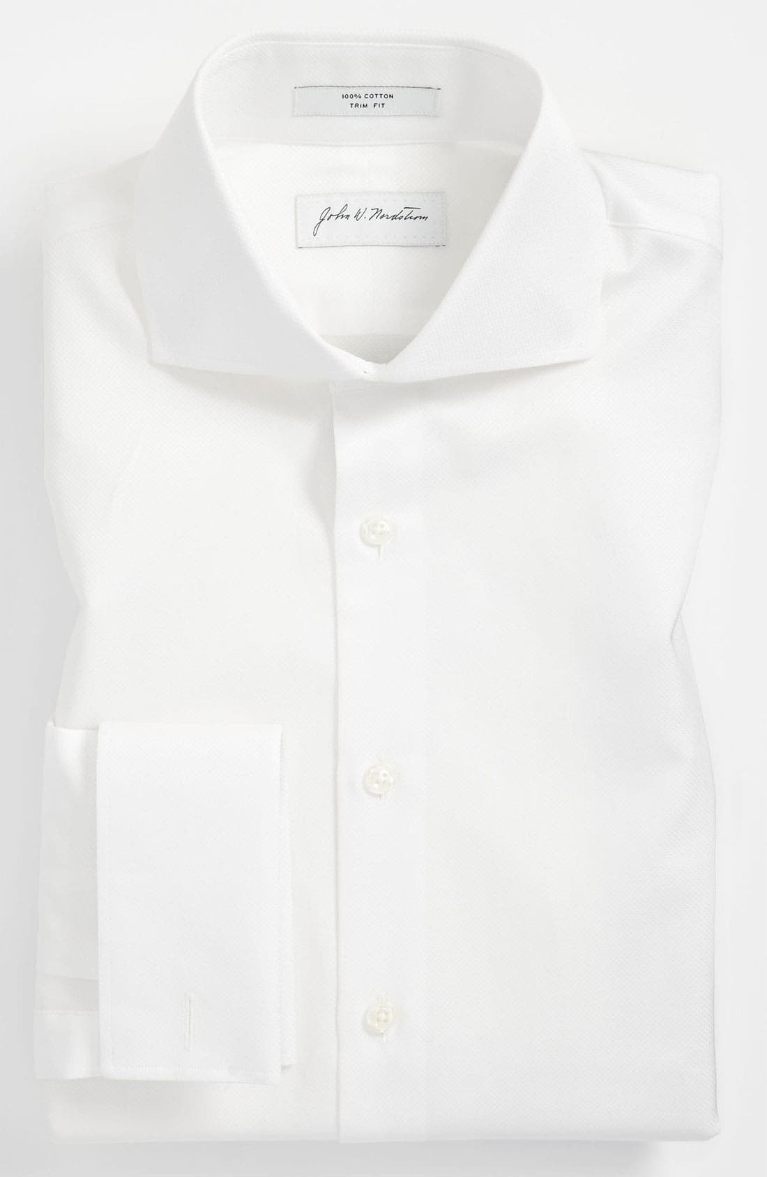 Alternate Image 1 Selected - John W. Nordstrom® Trim Fit Tuxedo Shirt