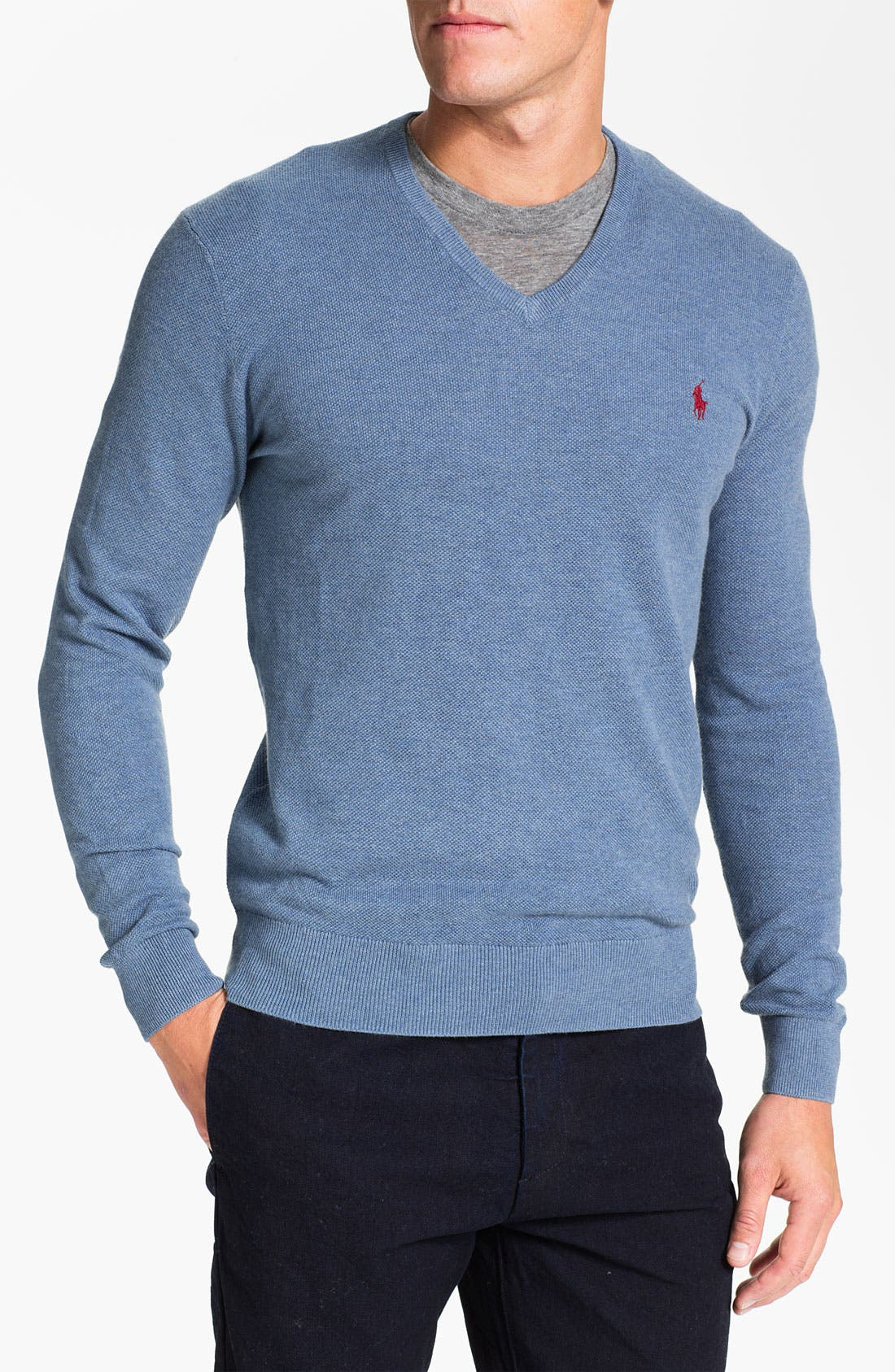 Main Image - Polo Ralph Lauren V-Neck Cotton & Cashmere Classic Fit Sweater