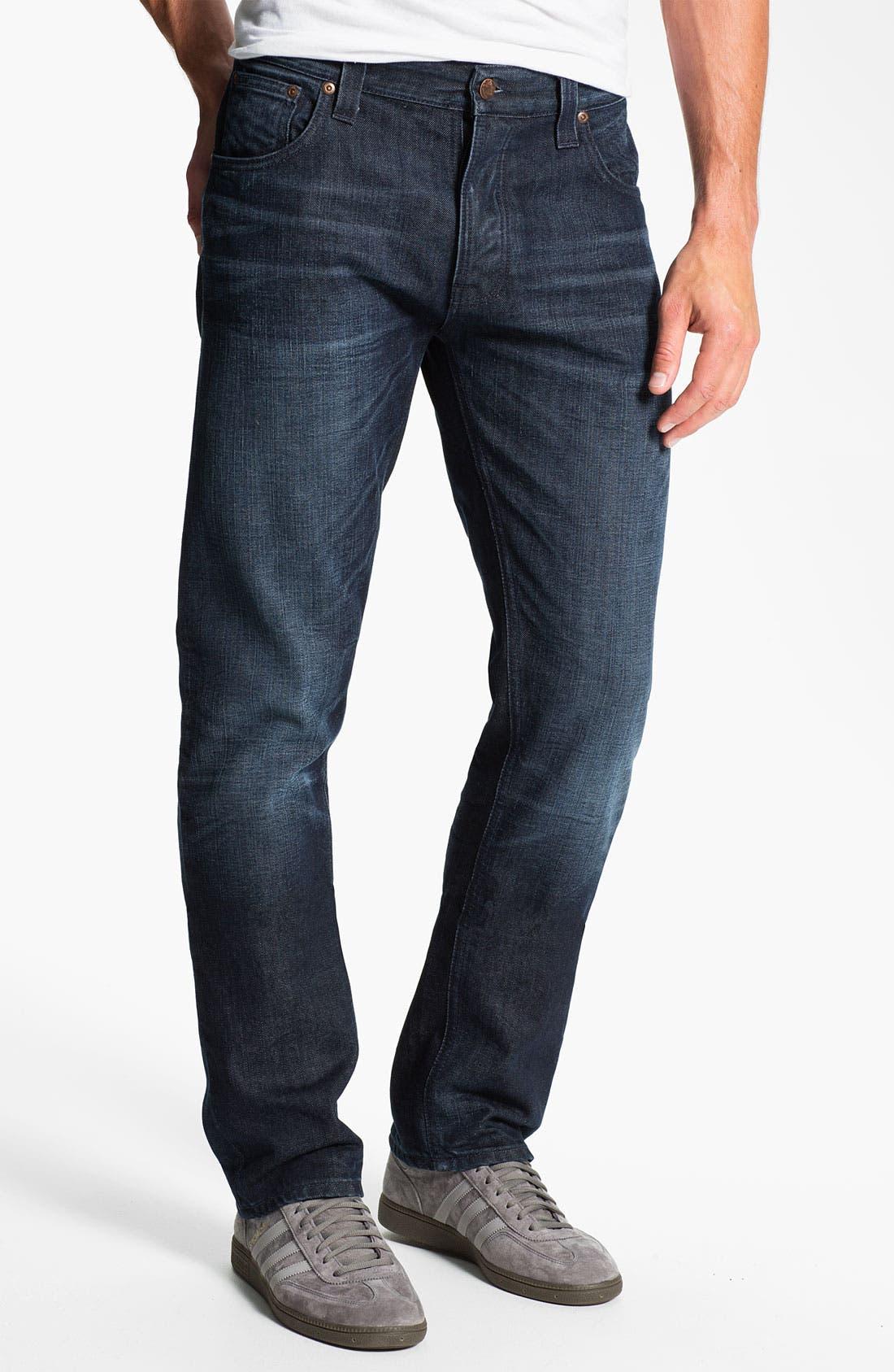 Alternate Image 2  - Nudie 'Hank Rey' Straight Leg Jeans (Organic All Crinkled Up)