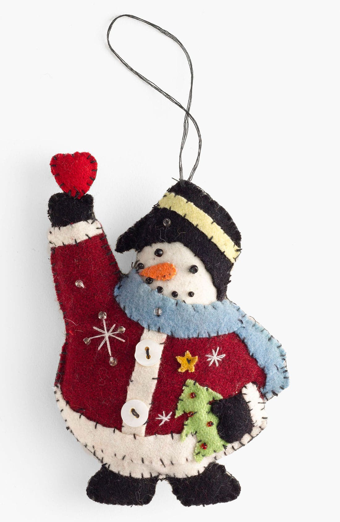 Alternate Image 1 Selected - New World Arts 'Puffy Snowman' Ornament