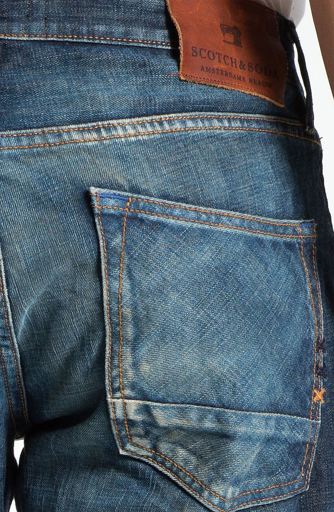 Alternate Image 4  - Scotch & Soda 'Ralston' Slim Straight Leg Jeans (Blue Buzz)