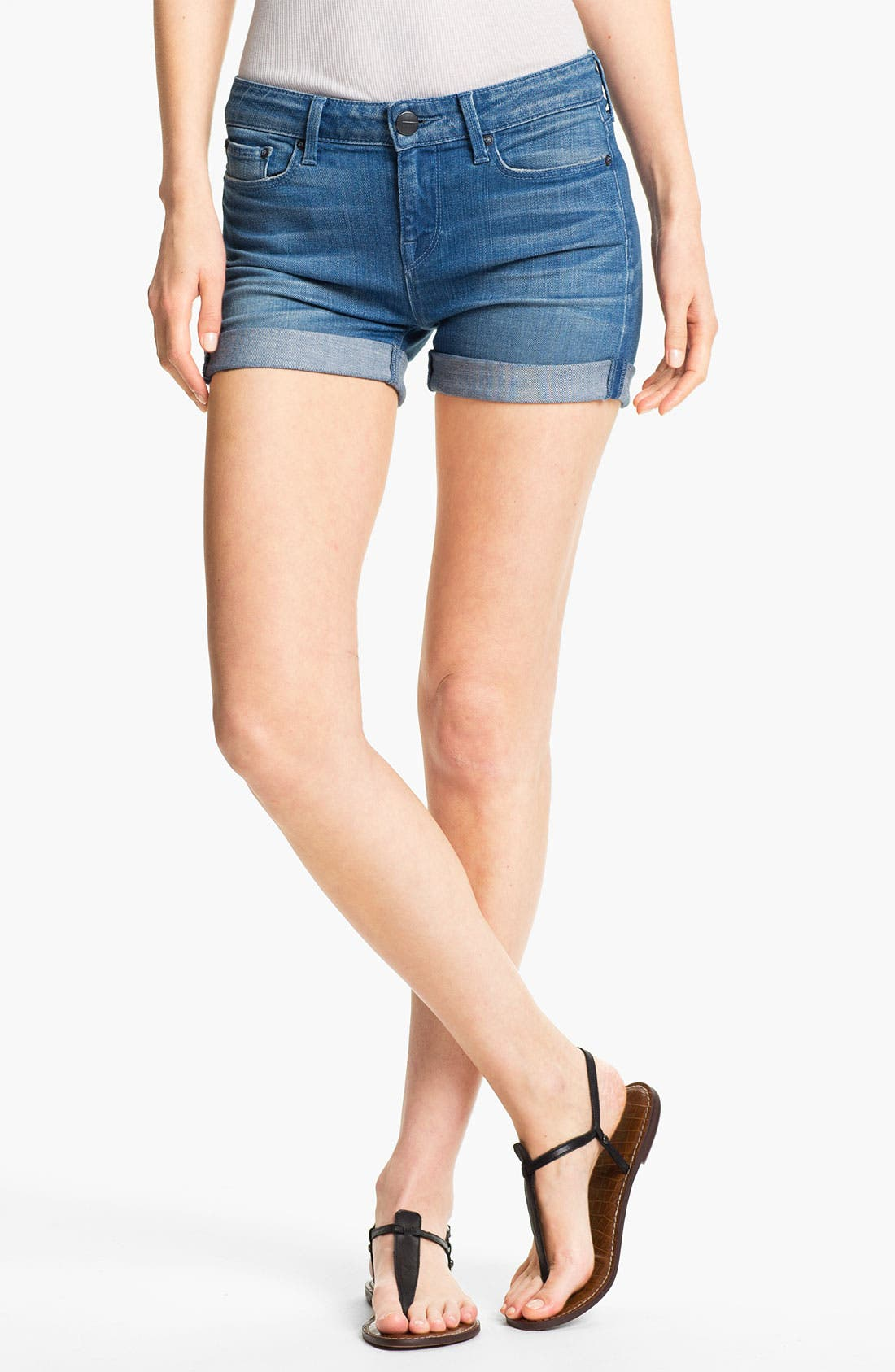 Alternate Image 1 Selected - Vince Cuff Stretch Denim Shorts (Weekend)