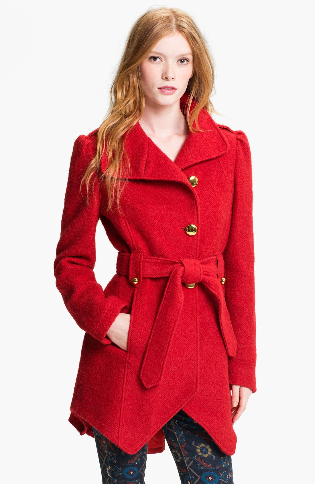 Alternate Image 1 Selected - bebe Cutaway Front Coat