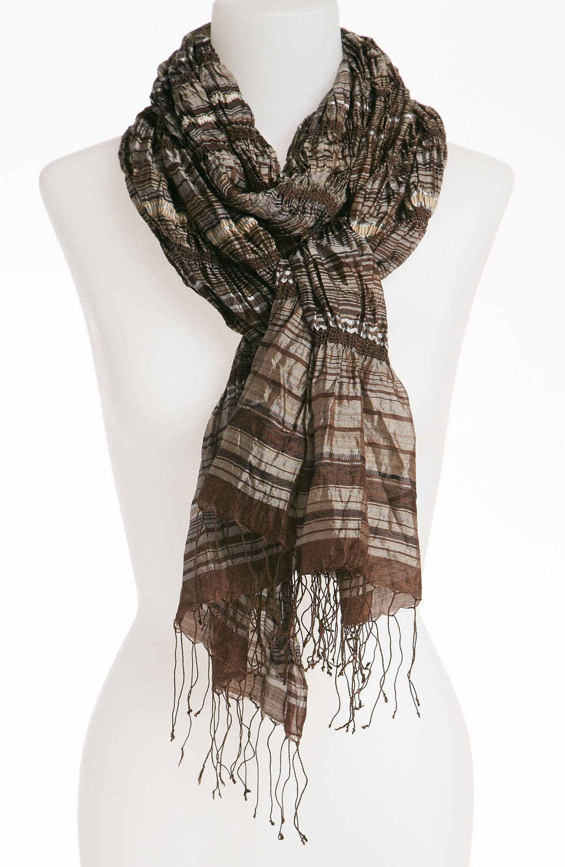Alternate Image 1 Selected - Eileen Fisher Stripe Silk Scarf