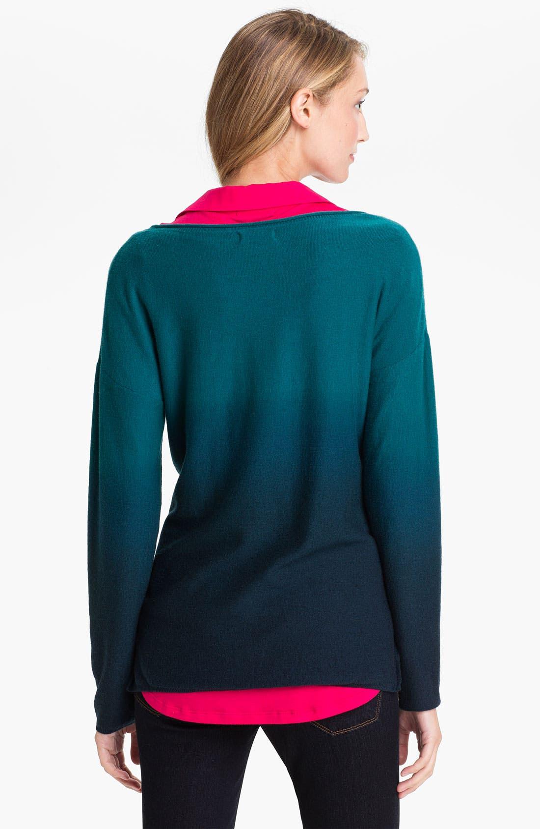 Alternate Image 2  - Lucky Brand 'Dolly' Dip Dye Sweater