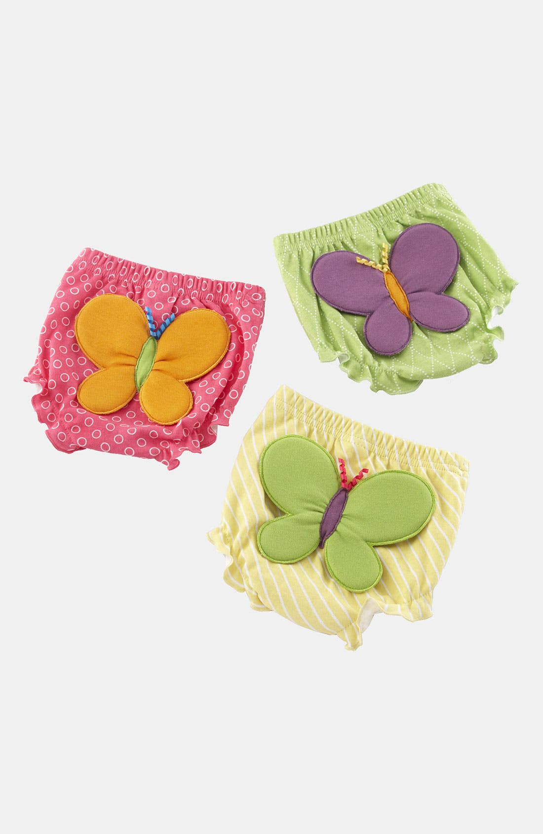 Alternate Image 1 Selected - Baby Aspen Butterfly Bloomers (Set of 3) (Baby)