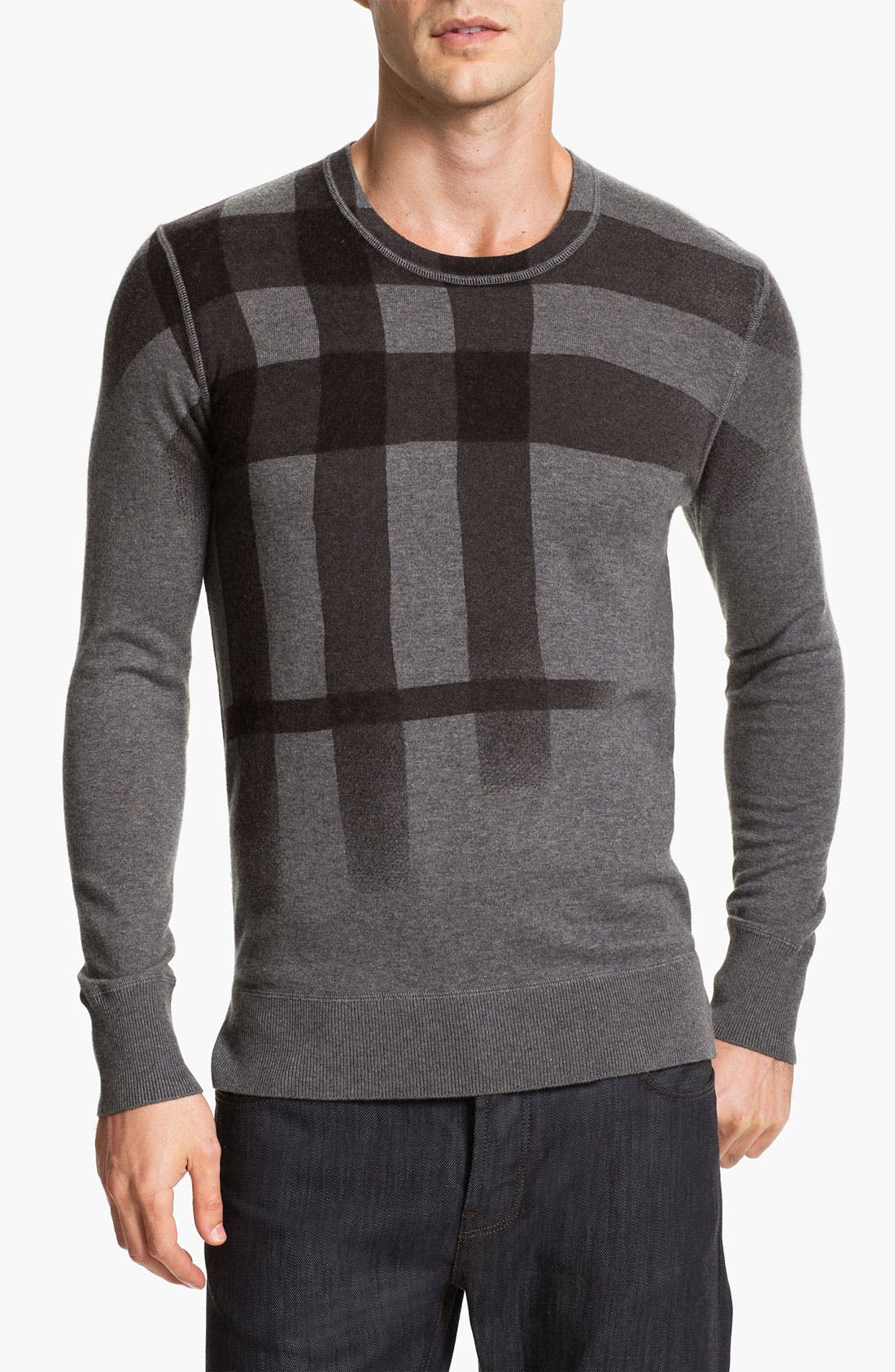 Alternate Image 1 Selected - Burberry Brit Check Sweater