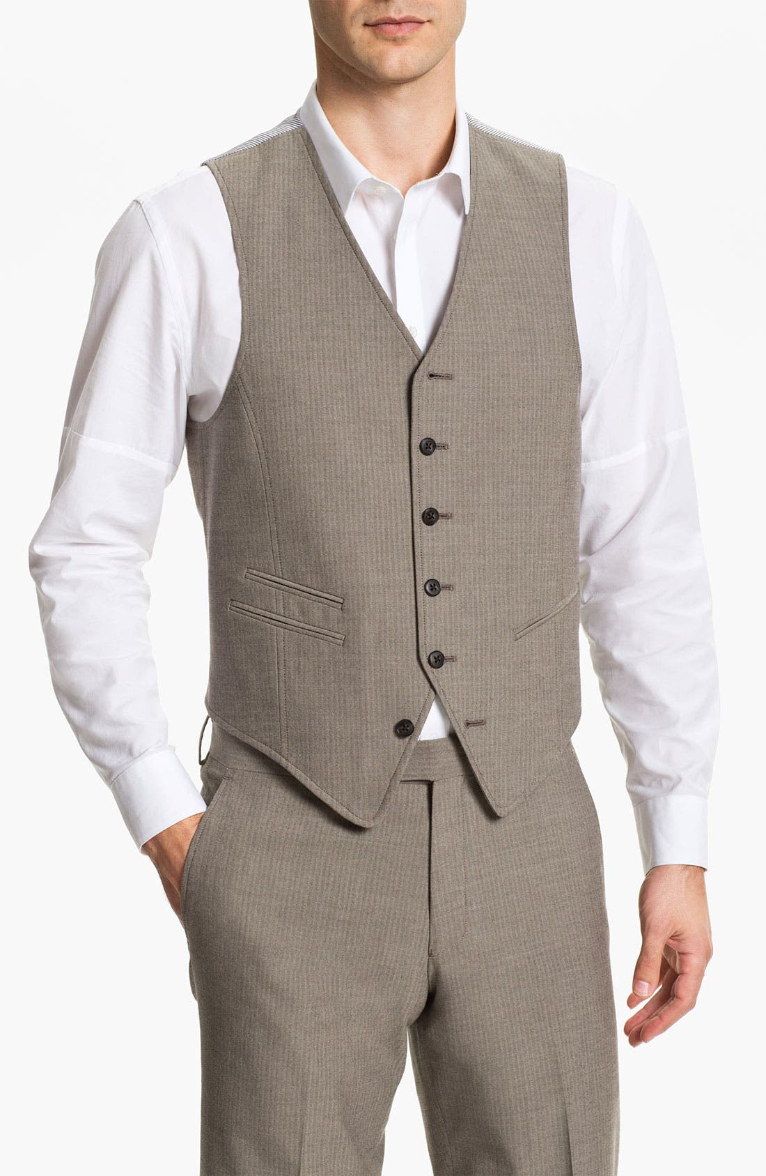 Alternate Image 1 Selected - John Varvatos Star USA Red Label Vest