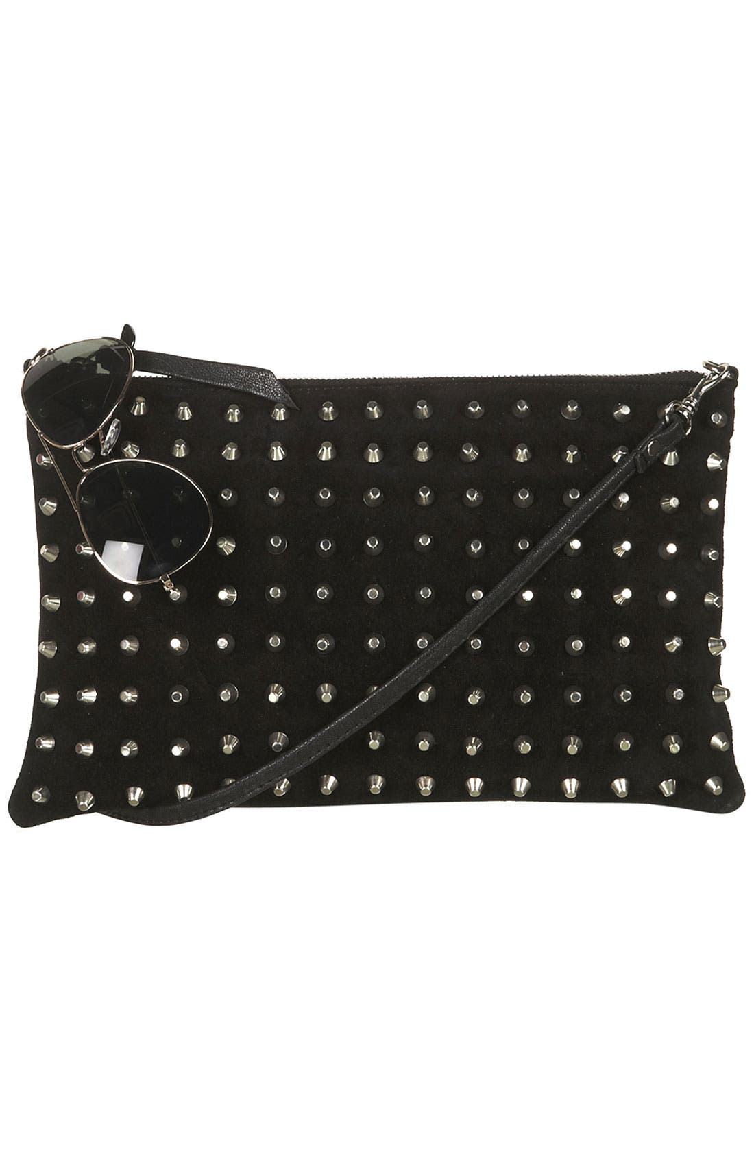 Alternate Image 5  - Topshop Studded Suede Clutch