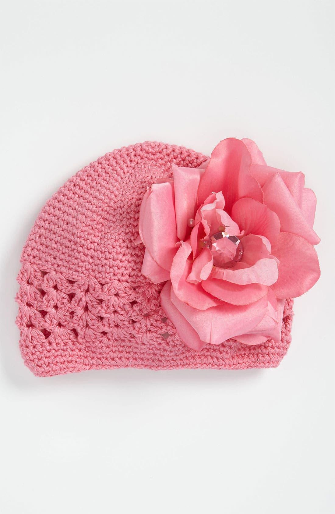 Main Image - PLH Bows & Laces Crochet Hat (Infant)