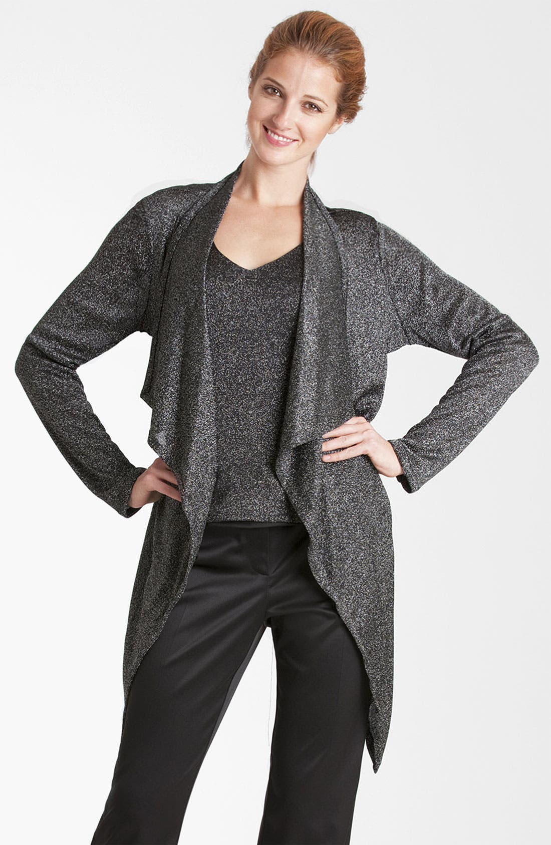 Alternate Image 1 Selected - JS Collections Drape Cardigan Twinset