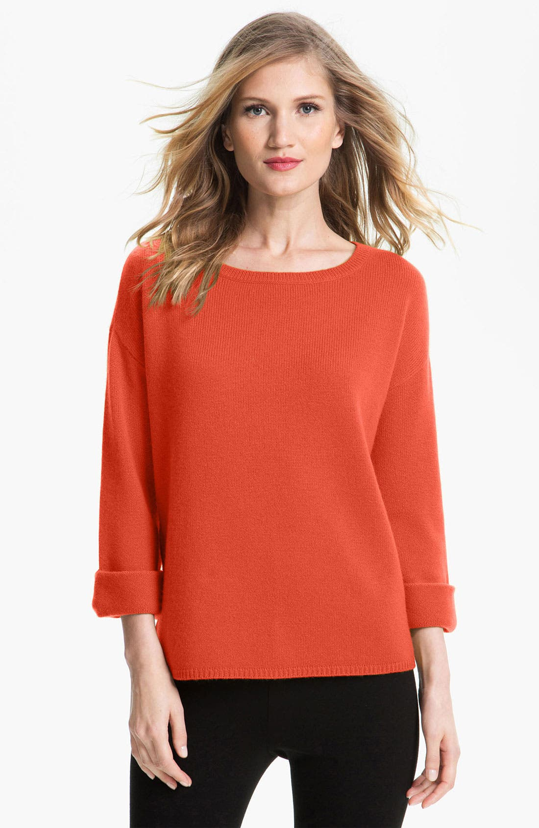 Alternate Image 1 Selected - Nordstrom Collection Kimono Sleeve Cashmere Sweater