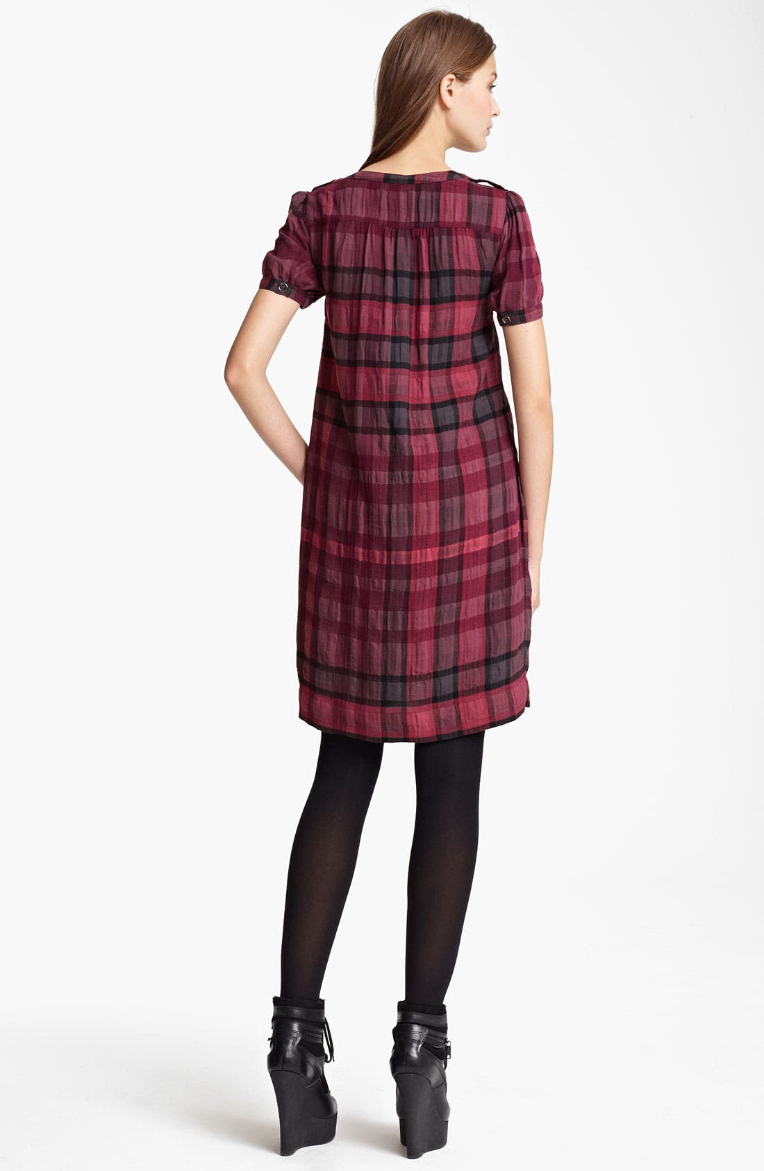 Alternate Image 2  - Burberry Brit Check Print Dress