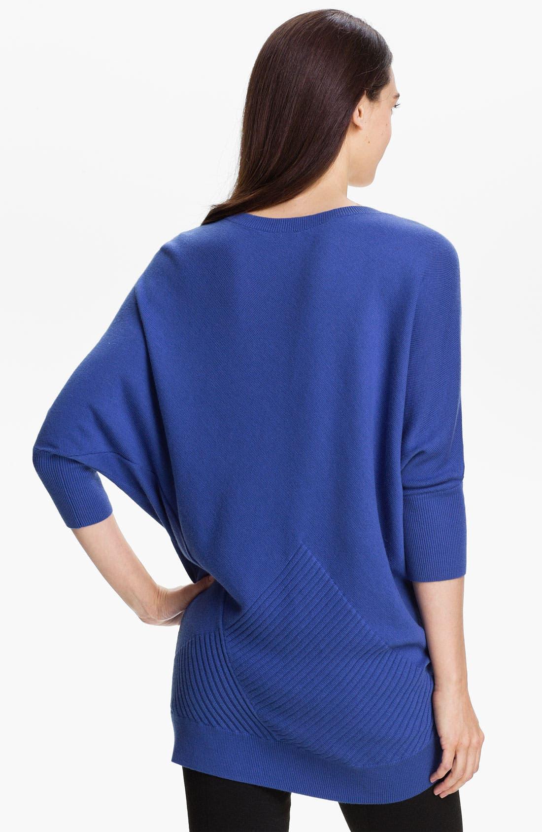 Alternate Image 2  - Halogen® Three Quarter Sleeve Tunic Sweater