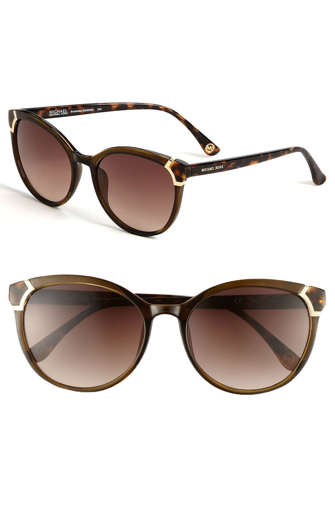 Alternate Image 1 Selected - MICHAEL Michael Kors 'Bradshaw' 55mm Sunglasses