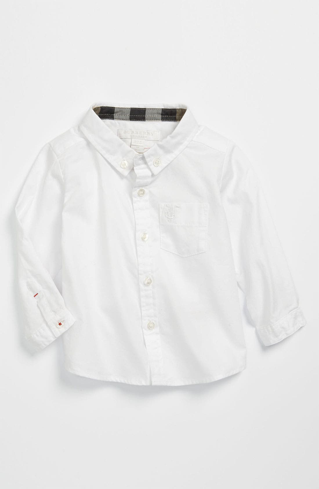 Main Image - Burberry Oxford Shirt (Baby)