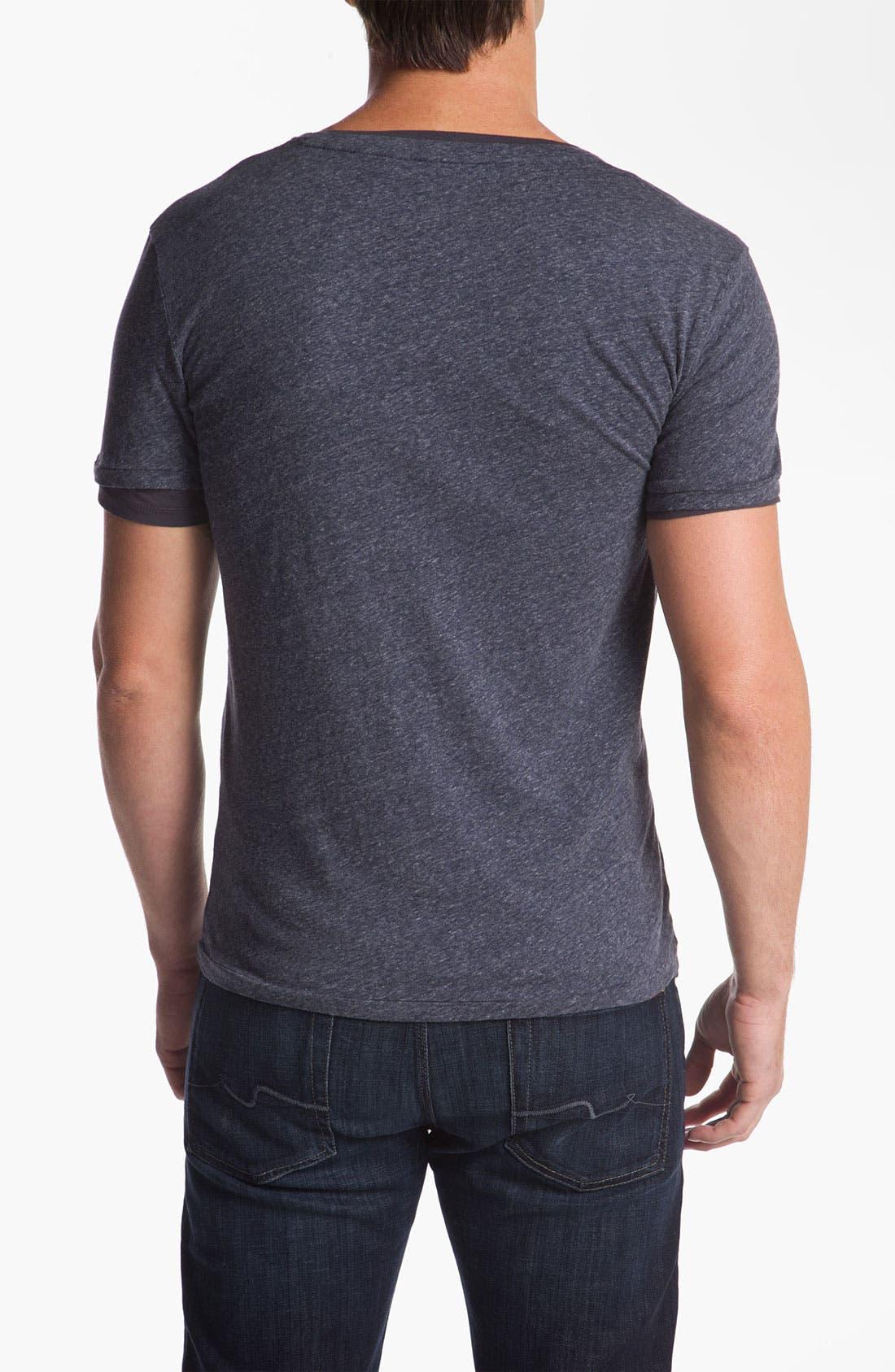 Alternate Image 2  - BOSS Orange Trim Fit Double V-Neck T-Shirt