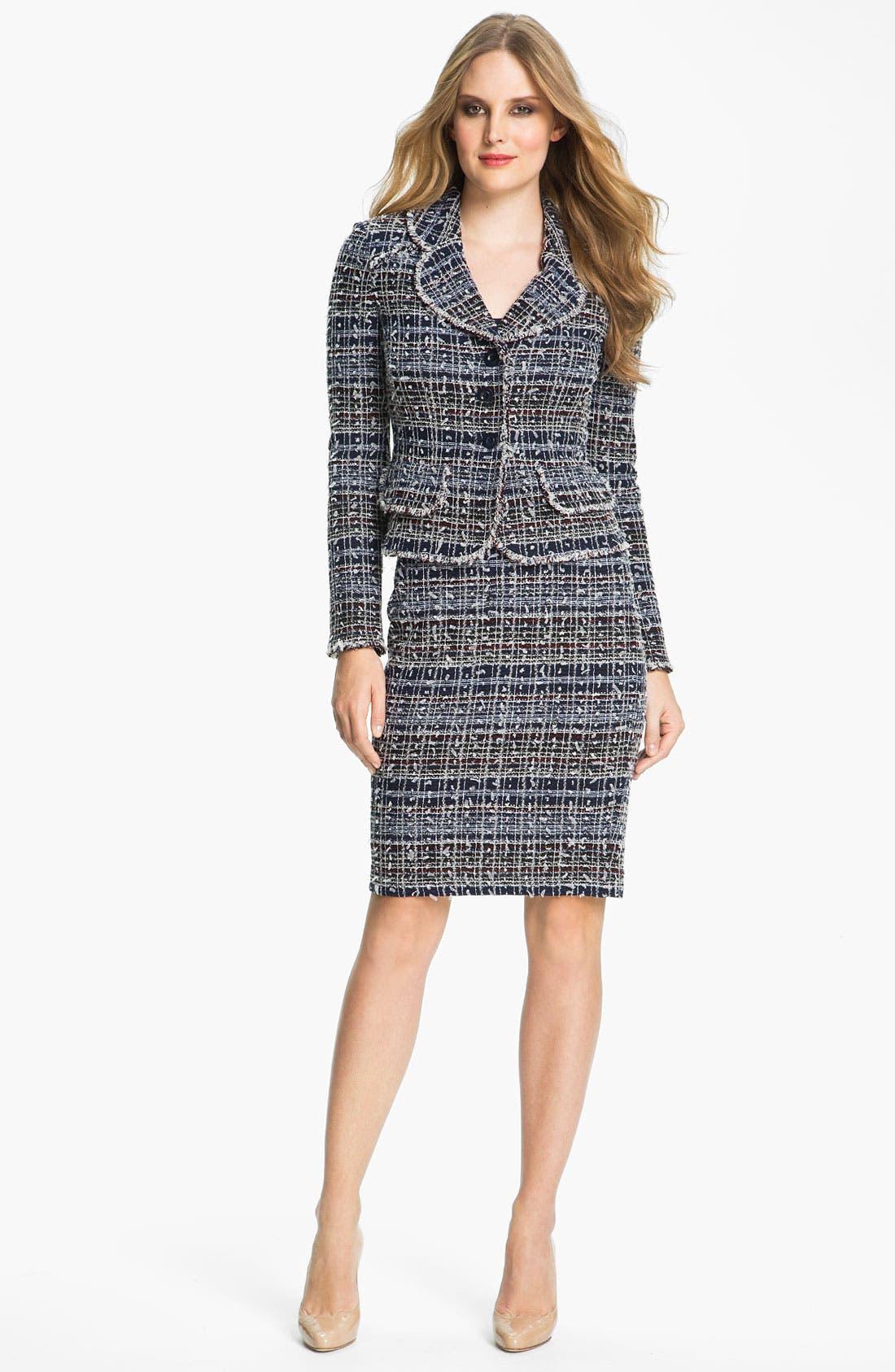 Main Image - St. John Collection 'Sutton' Tweed Knit Jacket