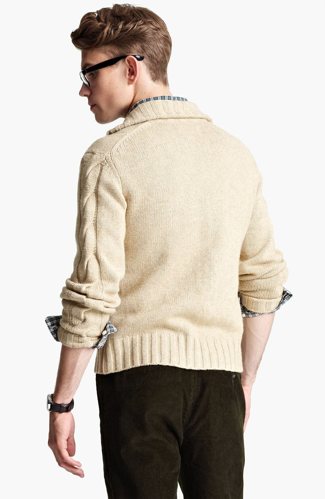 Alternate Image 2  - Jack Spade 'McGrady' Lambswool Cable Knit Sweater