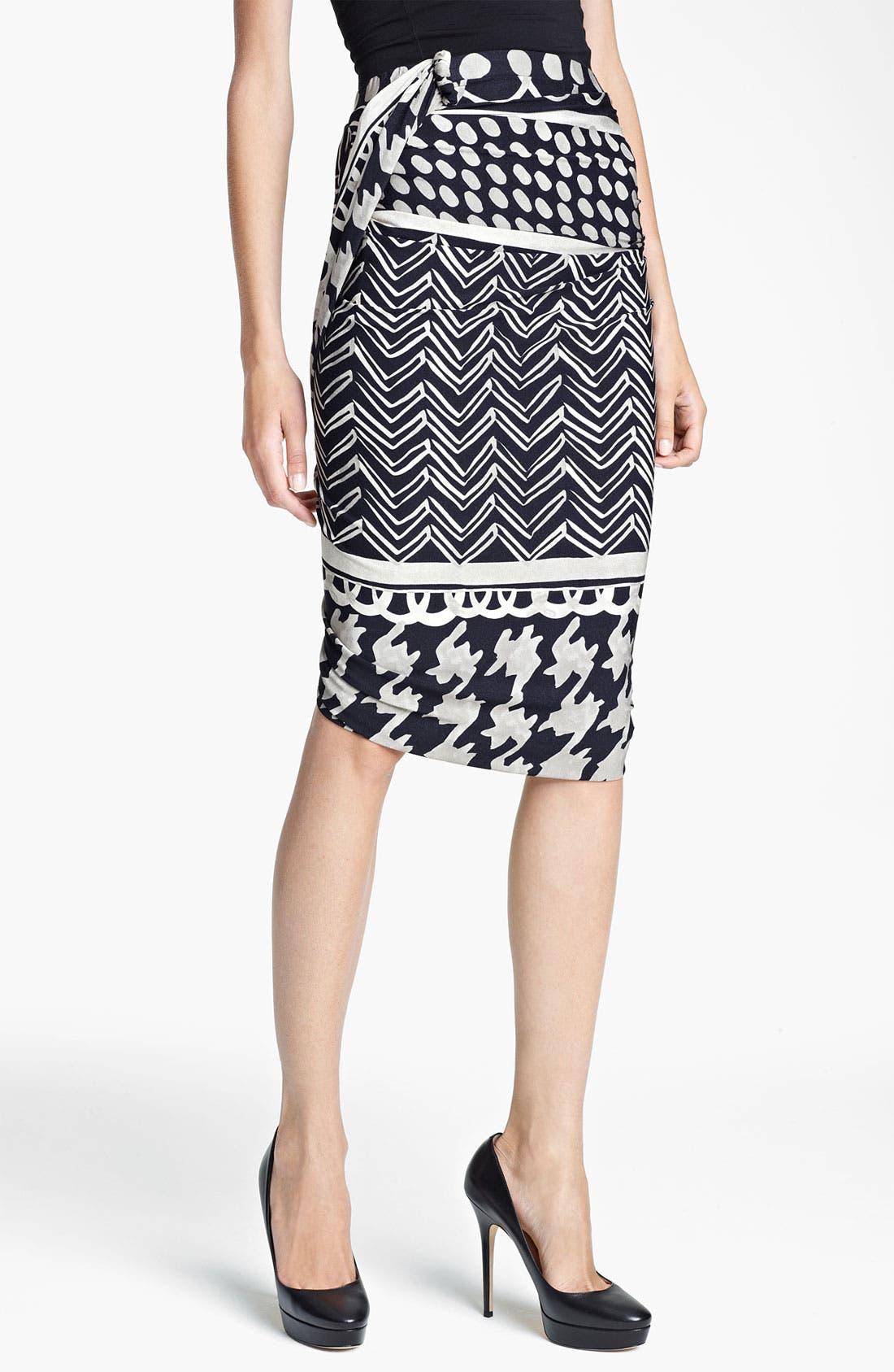 Main Image - Max Mara 'Ombrato' Print Jersey Tulip Skirt